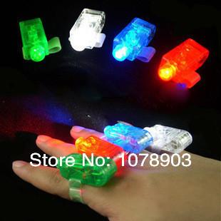 LED finger light glow ring flashlight party club rave dance laser beam flash toy(China (Mainland))