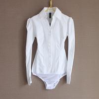 HL-45 Summer blouse White V-neck Slim white Long sleeve Women work wear Body women fashion body blouse body feminino