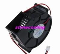 1pcs GDT DC 12 volt  2Pin cooling blower fan  7CM 70MM 75X30MM fan