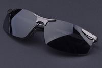 2014 New Anti-ultraviolet Anti-vertigo Polarized Sunglasses Sun Glasses for Aviator Cops Pilot Sailing Driver Black