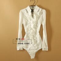 HL-36 Body shirt Summer new 2014 Women Long sleeve blouse Fashion Female shirt Body women Blouses for women white shirt