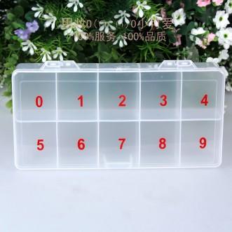 Nail tools translucent box storage box for nail sclerite(China (Mainland))