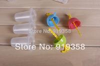 Hot 3PCS/set Cute Round shape Popsicle box DIY Ice Cream Tool Ice Cube Tray Mold Ice Cream Maker  Ice Cream Tubs(ICM-040)