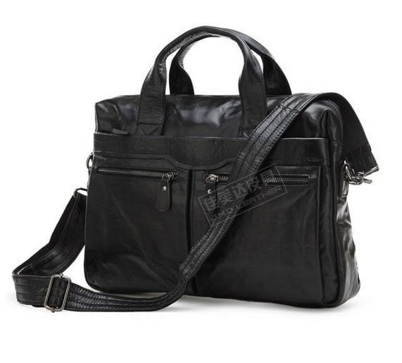 100% Genuine Leather men bag Vintage men Messenger Bag men's briefcase Laptop business Briefcase 2015 men's travel bag tote 7122(China (Mainland))