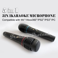 5 IN 1 Karaoke Microphone Compatible with Wii/Xbox360/PS2/PS3/PC