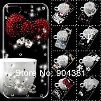 3D Rhinestone Luxurious Bling Diamond Crystal Hard Case CoveFor Samsung Galaxy S3 mini i8190 Phone Free shipping