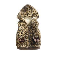Baby girls thicken vests Kids autumn and winter fleece vest Children hooded outerwear brand designer vest IG-712