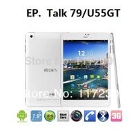 Freeshipping 8 inch Cube U55gt Talk79 Mini Pad MTK8389 Quad Core 1.2GHz Android 4.2 Bluetooth GPS FM GSM WCDMA 3G