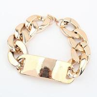 Fashion chain coarse acrylic metal bracelet female exaggerate Bangle