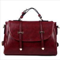 New 2014 fashion women's handbags shoulder bag Retro postman diagonal mobile packet PU bag for women free shipping