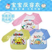 Free shipping Children baby bib bibs bib infant 100% cotton waterproof painting clothes long-sleeve bib