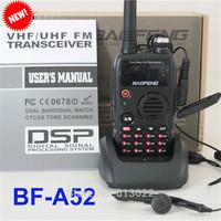 NEW DUAL BAND BAOFENG A-52 Vhf Uhf 136-174 400-520 Mhz FM 5w RADIO Free Earpiece
