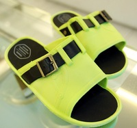 Trend neon green slippers lovers beach slippers waterproof lovers beach slippers male trend