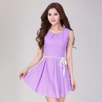 2014 summer women's lace slim sleeveless elegant dress one-piece dress