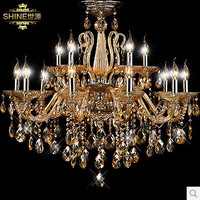 European lamp crystal lamp living room lamp crystal lamp lighting candles duplex villas
