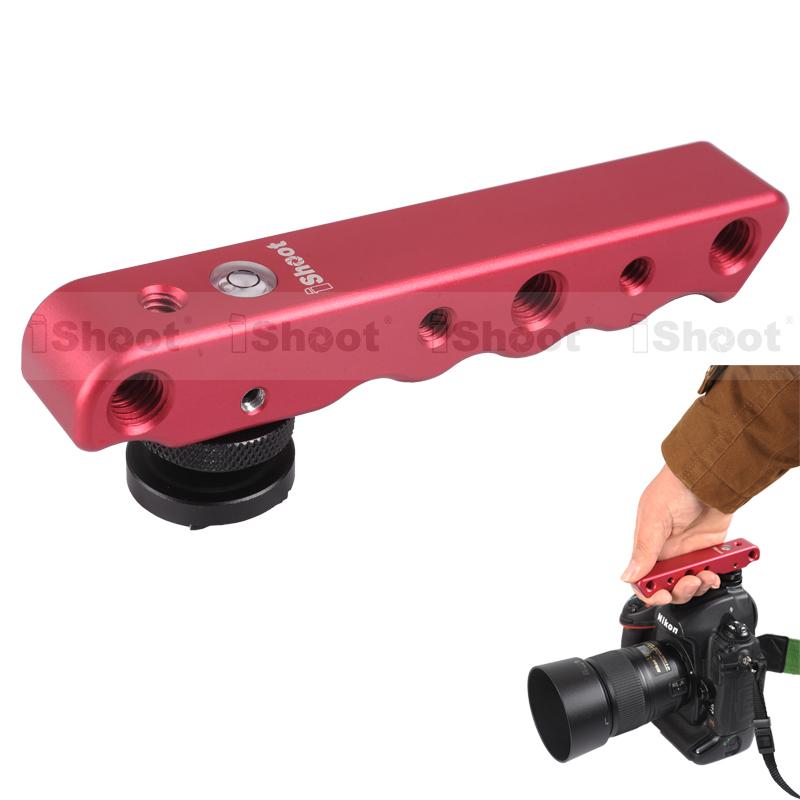 Red Hand-held Multifunctional Metal DC/DV Digital Video Camera Bracket Holder case for Canon Nikon Pentax Sigma Fuji Sony(China (Mainland))