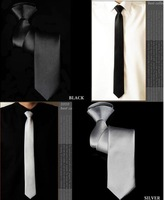 Tie male small tie black tie easy to pull zipper tie convenient 5cm
