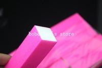 Free Shipping 10pcs/lot Nail Buffer Sanding Block Files Nail Art Acrylic Fluorescence Rose Red Color Nail File Tools