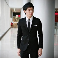 New arrival male groom wear suits slim male suit fashionable casual suit