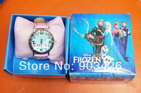 Free shipping!! 500pcs/lot ! 2014 Hot Sale Frozen Children Watch Fashion Cartoon Leather Watch G3610 On Sale Wholesale