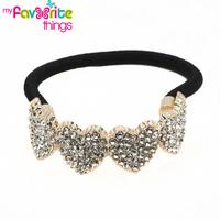 Design Fashion Elastic Heart Shape Hair ties Ponytail Holder Handband Jewelry Accessories For Women Girls Hairband Free Shipping