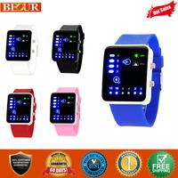Personality Binary Muticolors LED Digital Sport Wristwatches Gift Watch free shipping