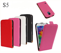 New Arrival Simple Flip Cover Pu Leather Case for Samsung Galaxy S5 i9600