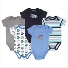10 Style 5pcs/lot Baby Bodysuits Spring Babies Newborn Cotton Body Baby Long Sleeve Next Infant Bebe Boy&Girl Clothes(China (Mainland))