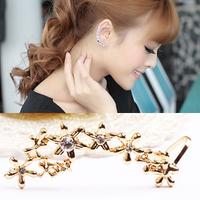 Clip flower earrings no pierced earrings female screw earrings in ear cushiest earrings u26