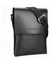 2014 latest !! 80% discount LENWE BOLO Men Business Briefcase Crocodile Handbag men shoulder bag/messenger bag,free shipping