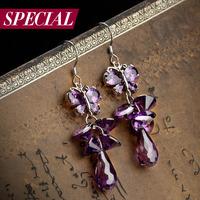 Special earrings female s925 silver ear hook bohemia tassel flower spring