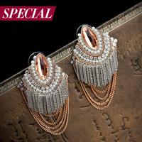 Special stud earring female tassel bohemia anti-allergic earring all that jazz spring
