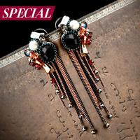 Special stud earring female romantic bohemia tassel earrings anti-allergic spring