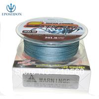 No.1 Quality&Service 4 Strand Grey Color 300M Japan Multifilament Super Strong 100% PE Braid Fishing Line 12LB