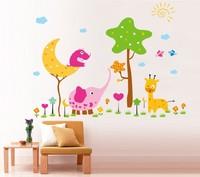 Free shipping!! JM7199 removable cartoon wall sticker kids room wall decor  60*90cm