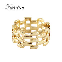 Spring 2014 Hot Sale Punk Style Gold Color Plated Hollow Out  Rings for Women