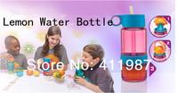 Free Shipping 2014 New Arrive 480ML Kid Lemon Juice Source Vitality Straw Water Bottle.A76