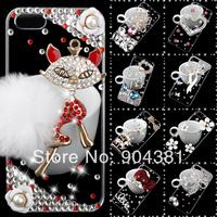 3D Rhinestone Luxurious Bling Diamond Crystal Hard Case Cove ForApple iPhone 4 4SPhone