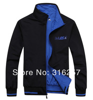2014 New Arrival Men's reversible jacket outerwear men's cotton-padded coat outerwear  Big size L-5XL