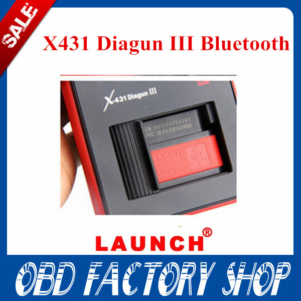 Promotion DHL free 100% Original Launch X431 diagun 3 x431 diagun III bluetooth connector wholesale Free update on offical web(China (Mainland))