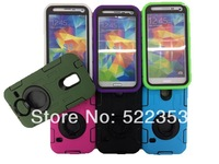 for Samsung Galaxy S5 i9600 2 IN 1 Hybrid Stand Case 360 Degree Rotating Heavy Defender PC+silicon Case