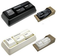 Free Shipping New Arrival Keyboard Stationaries Set : Book Stitcher + Card Punch + Keyboard Brush