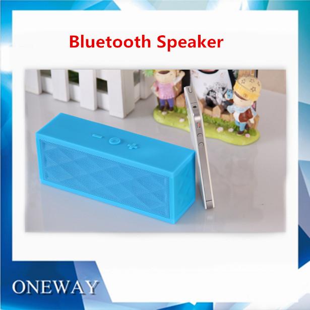 100pcs/lot MiniJambox Style Bluetooh Speaker with Rechargeable Battery Wireless Bluetooth Speaker System with Handsfree Mic(China (Mainland))
