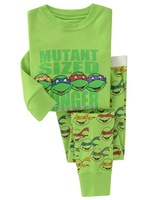 Free Shipping 6SET/LOT BABY & kids Long sleeve Cartoon Teenage Mutant Ninja Turtles Boys Girl suit sleepwear baby pyjamas