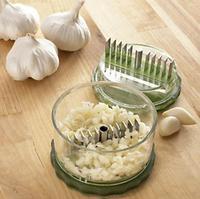 2014 New Brand Garlic Crusher Peeler Spice Mincer Stirrer Presser Slicer/Ginger Clear Vegetable Tool WITH BOX