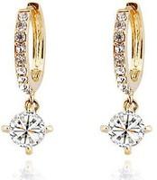 Wholesale Cubic Zirconia Earrings Women Czech Crystal Hoop Earrings Fashion Jewelry for Women Silver Earing ML-176