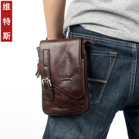 Hot sale Cowhide men bag casual style waist bag pack genuine leather travel bags messenger bags
