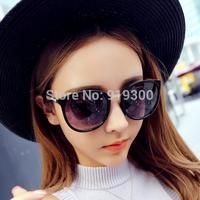 Free Shipping Super Cool Women Fashion Vintage Retro Sunglasses Circle Lens UV400 Mirrored Sunglasses Frog Sunglasses  #MM45