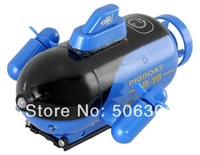 Free shipping + Electronic 2014 New Remote Control Toys 4 Channels Mini Wireless RC Toy Submarine (Blue)