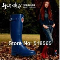 Женские ботинки Lostlands women's rain boots colorful tread handsome black Ma Dingxue high-quality waterproof shoes